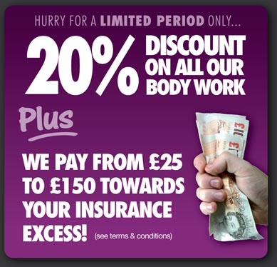 DISCOUNT ON ALL OUR BODY WORK