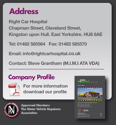 Right Car Hospital, Chapman Street, Cleveland Street, Kingston upon Hull. East Yorkshire. HU8 8AE